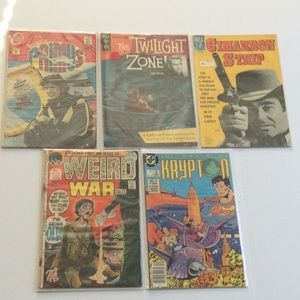Lot of 5 vintage comics 60s 70s twilight zone tale